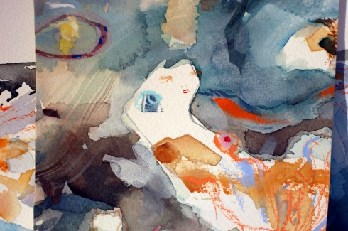 snippet of a painting, by Charmagne Coe