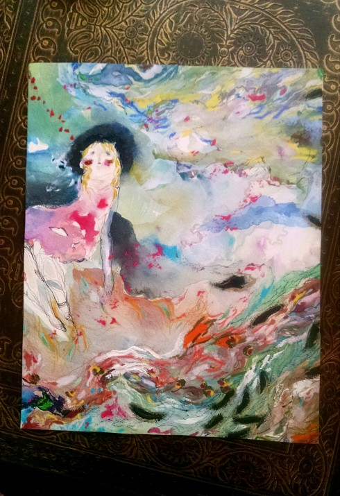 snippet of discarded painting, by Charmagne Coe